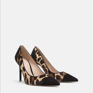 ZARA Animal Print High Heel Shoes size 9